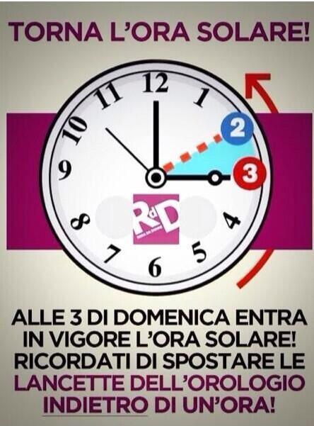 Ora Solare: l'Ora esatta per il cambio di orario.