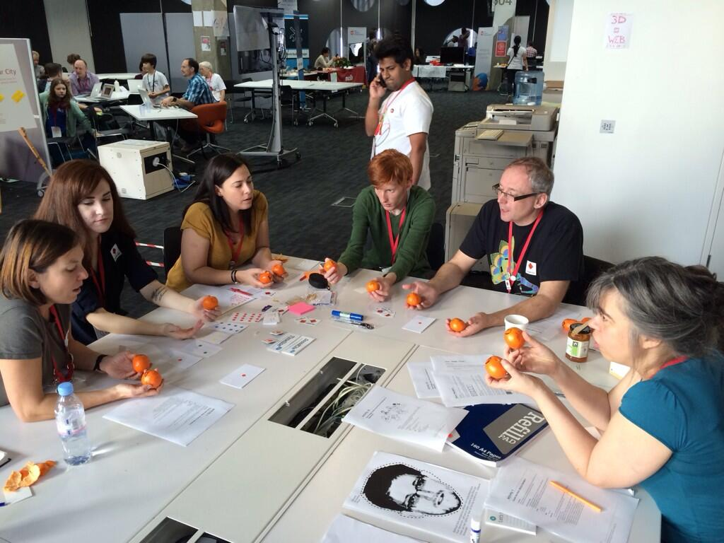 MozFest 2013: Playing the CS Unplugged Orange game
