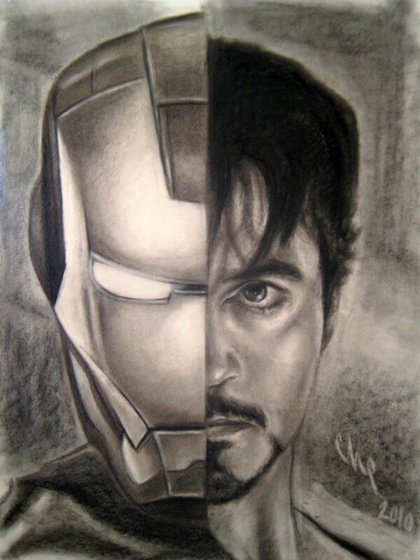Dibujos A Lápiz On Twitter Iron Man Tony Stark Httptco