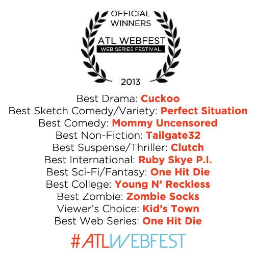 Congratulations to all the winners of the 2013 ATL WebFest