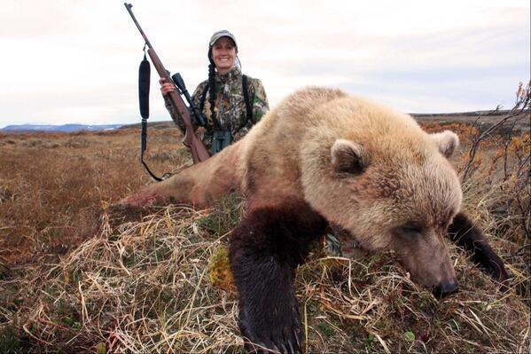 My first Alaska brown bear, and a beautiful blonde bear to top it off!! What a great hunt...tough weather but fun!! http://t.co/YP18FlL1P5