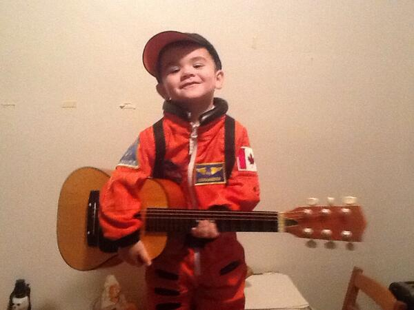 This is James getting ready for Halloween this year. @cp24breakfast @Cmdr_Hadfield http://t.co/WaDdk0n0JS