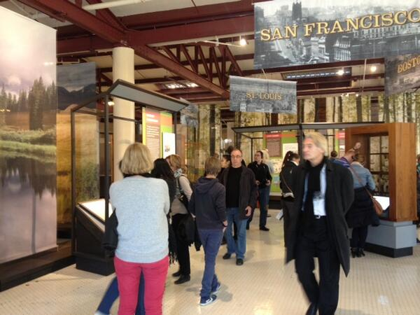 Today's first visitors to #Ellis Island tour the 1550-1890 immigration exhibit on the 1st floor. #sandy1year http://twitter.com/ellisisland/status/394874898616557568/photo/1