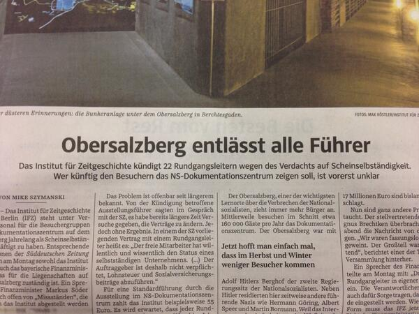 Obersalzberg entlässt alle Führer