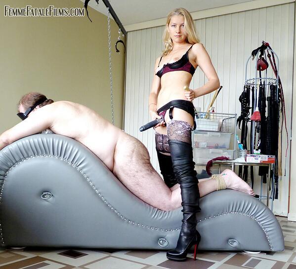 Horny nurse playing with dildo