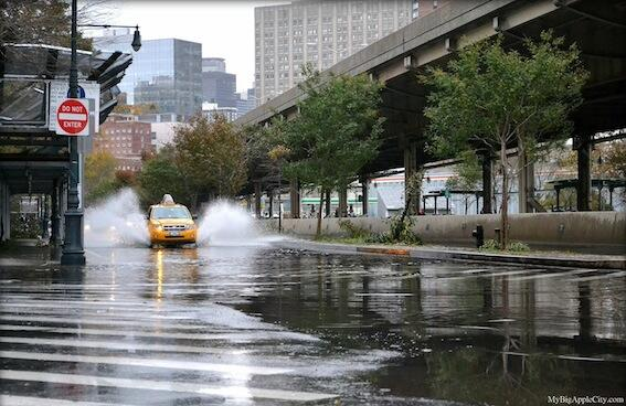 Alluvione a New York nel 2012.