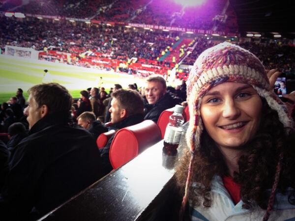 LOLZ! David Moyes photobombs a Man United fans picture at Old Trafford
