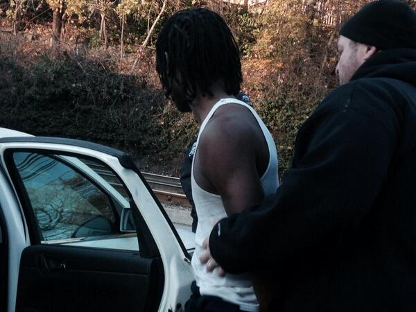 One of the suspects taken into custody in #Brashear shooting moments ago #wpxi #schoolshooting http://t.co/y59JoVPrr6
