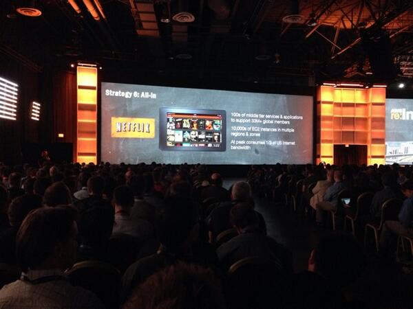Netflix featured at #reinvent as an example of all-in strategy. http://t.co/00Vry1aMtn