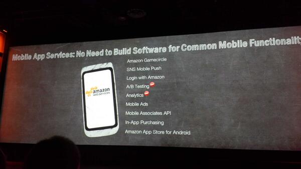 MyPOV - The mobile pitch of #AWS gets stronger and stronger. Showdown with #Google. #Reinvent http://t.co/B6xjGIXs60