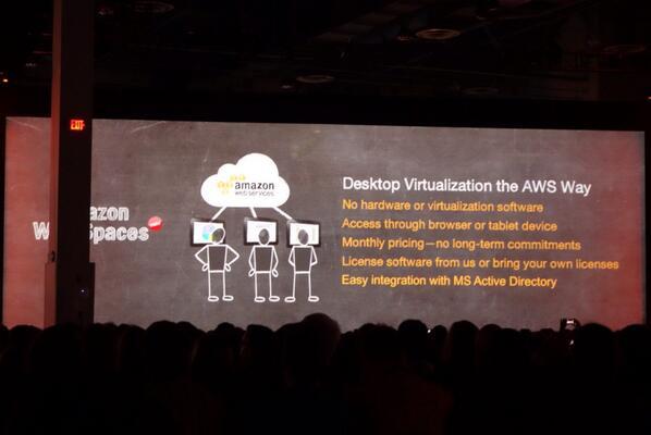 Amazon #WorkSpaces is going to change the Desktop landscape.  #reinvent http://t.co/5ghhXT4R9L