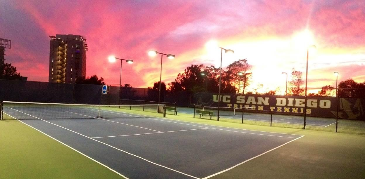 sunset at the courts