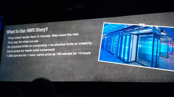 Impressive how the gaming industry uses #AWS - here Atomic Fiction #reinvent http://t.co/XIv9Ki0O2a