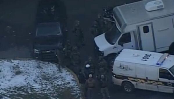 PHOTO: At the scene of the #Pittsburgh Brashear High School shooting -- KDKA-TV courtesy http://t.co/SpvkpdT0dt