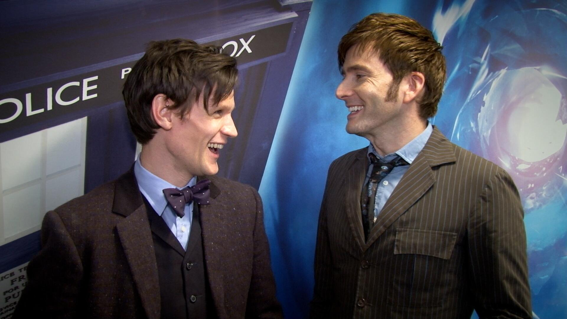 David Tennant and Matt Smith