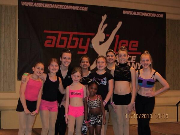 Thanks for the awesome class @Abby_Lee_Miller! Our girls loved it! Hannah & Laney really appreciate the scholarships! http://t.co/w1GksGV7aZ