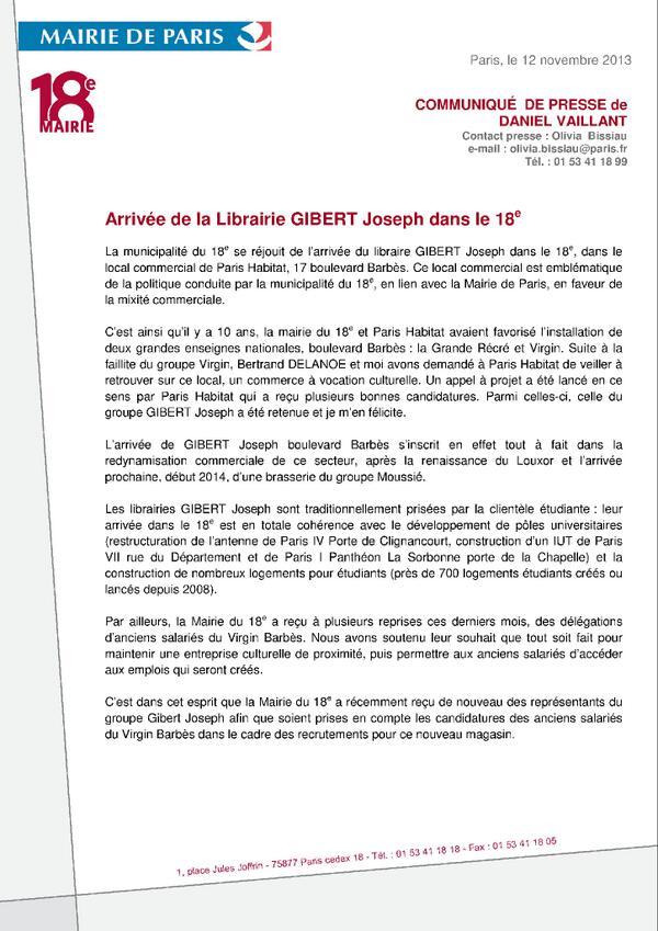 #mairie18paris  Arrivée de Gibert Joseph dans le 18e ! pic.twitter.com/ZufKyBv5pQ