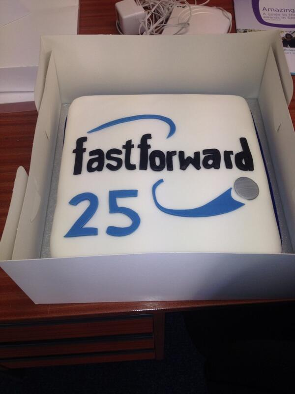 Wow! Our birthday cake has arrived! Here's a sneak preview. Looking forward to our event tonight! #ff25 http://t.co/q6Kd5lHhDV