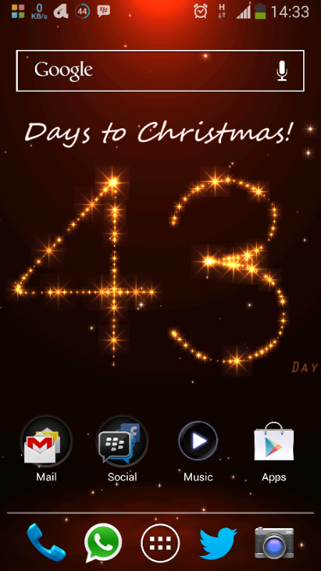 Twitter / echenze: Christmas mood. Got this live ...