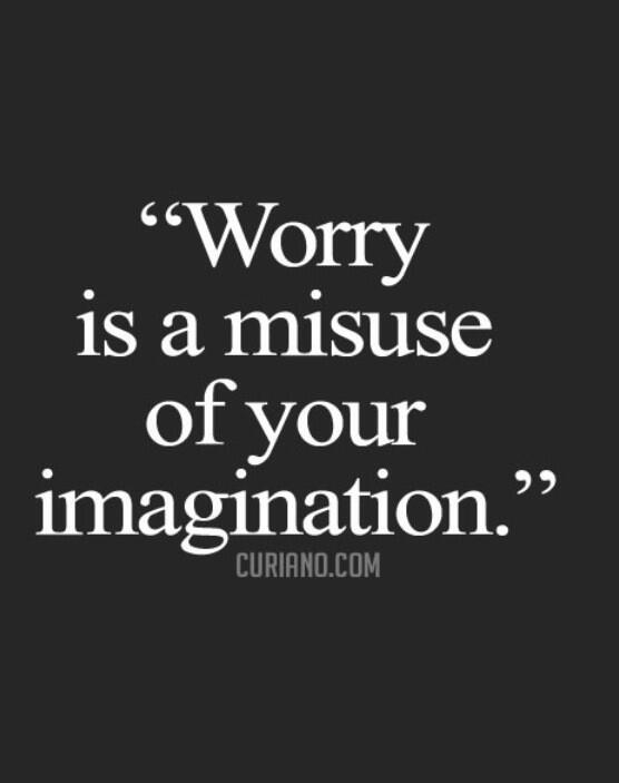 "I like that RT @jaimebarclay: ""@DavidRoads: Worry is a down payment on a problem you may never have."" #tweetspiration http://t.co/OS599y4fAx"