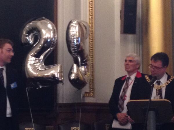 """Happy BD! """"@fastforwardorg: The Lord Provost of Edinburgh welcomes guests to our 25th birthday celebrations. #ff25 http://t.co/3U1VqVZdh9"""""""