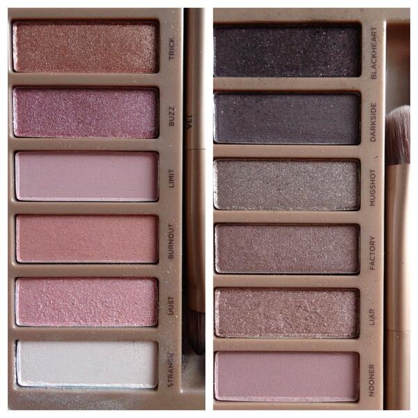 Here's a quick snap of the inside of the @UrbanDecay naked 3 palette. Think blush tones, rose gold, pretty neutrals. http://t.co/cbyb33gR2Q