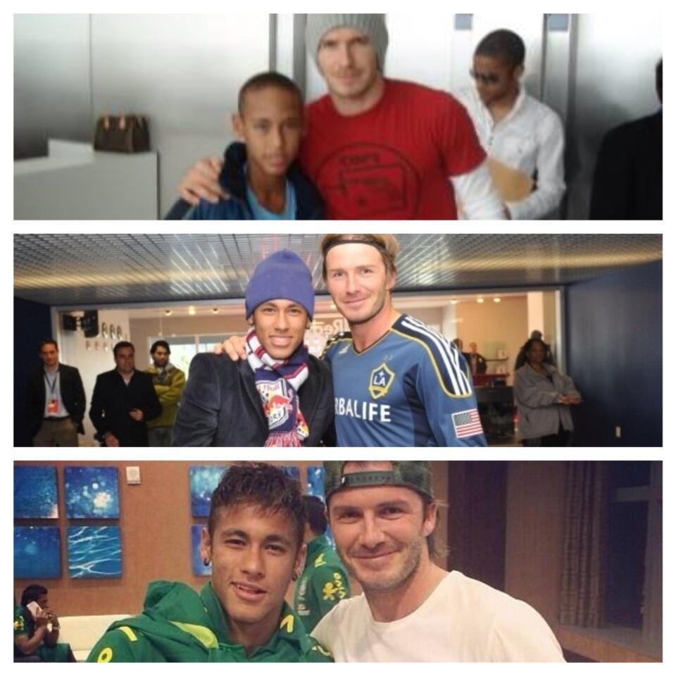 Brazil squad meet David Beckham & go to Miami Heat v Milwaukee Bucks [Instagram pictures & videos]