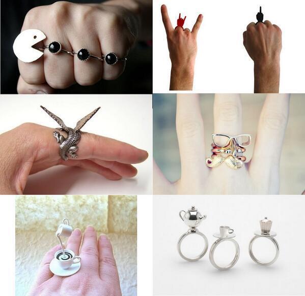 ちょっと変わったデザインの指輪いろいろ💍