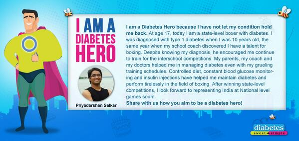 Share with us how you aim to be a diabetes hero! DM us your stories. http://t.co/SdgFIMvY6O