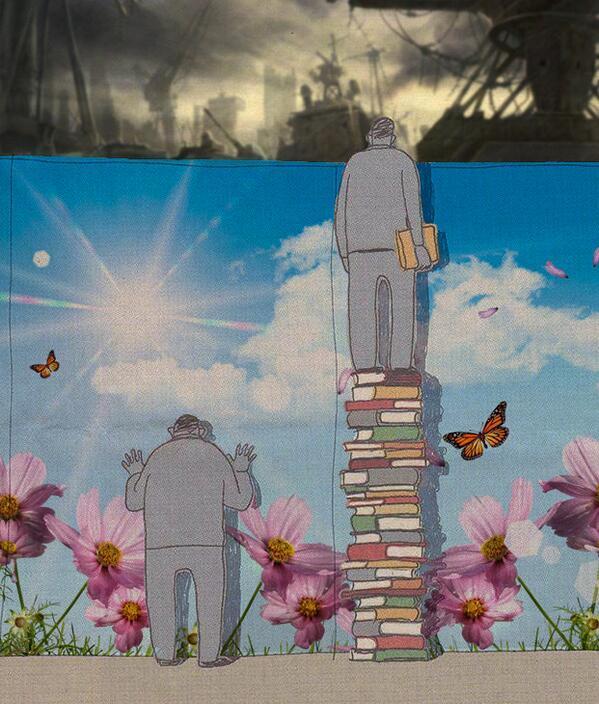 承前)本を読むことで視野が広がり、そして違う世界が見えてきます 笑 >