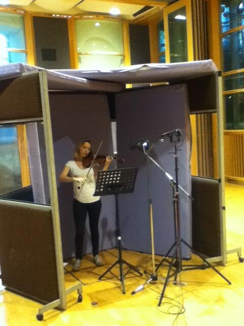Twitter / DavidGArnold: #sherlockS3 violin recording. ...
