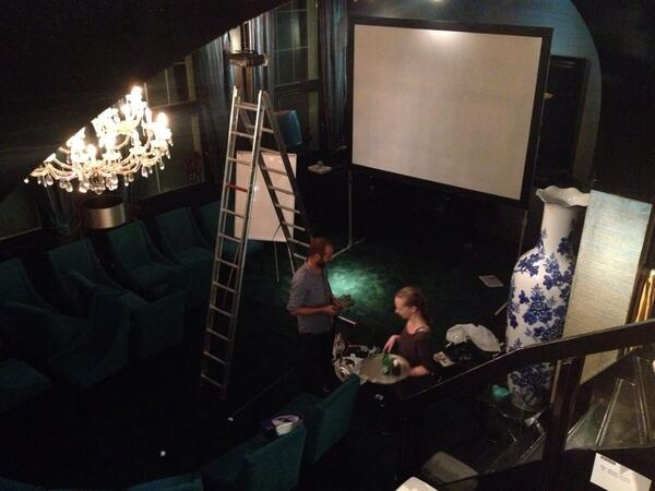 Sebastiaan and Roos preparing the venue for the 20th edition of Joop Swart Masterclass #WPPh #JSM13 http://t.co/FMvXb0xalp