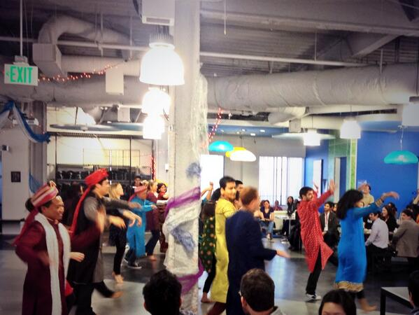 Diwali celebrations at Friday all hands lunch @BoxHQ http://t.co/wbmZaKMkx3