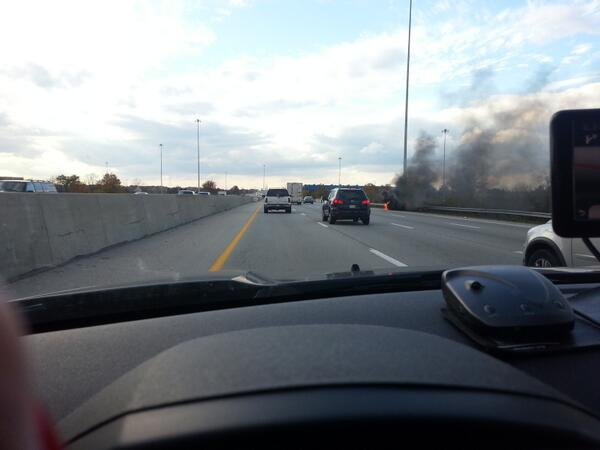 Car fire on North outer belt west bound http://t.co/X2trCSlLtu