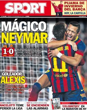 Saturdays Mundo Deportivo front page: Magico Neymar