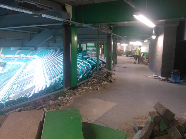 Work started on the new disabled section at Celtic Park #Hailhail http://t.co/ADg4O5iuAG