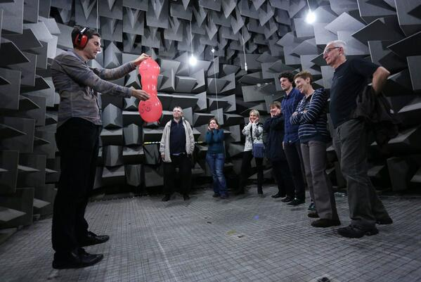 Bursting a balloon in the anechoic chamber