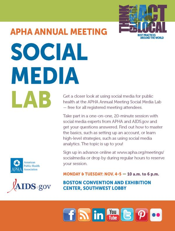 Awesome! #APHA13 & @AIDSgov hosting a #SocialMedia Lab to get a 1-on-1 session. http://blog.aids.gov/2013/10/social-media-ta-american-public-health-association-annual-meeting.html#sthash.FfSR8QHh.dpuf #hcsm #SM4PH http://twitter.com/reedmonseur/status/396766232310870016/photo/1