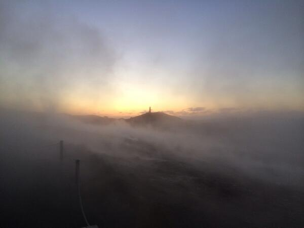 Lighthouse on an island of geothermal mist rising from all surfaces at SW tip of Iceland http://t.co/4dEDsrfgvn