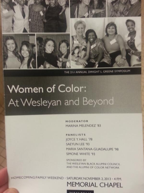 Amazing panel, amazing women @wesleyan_u ..honored to be a part of it! #Wesleyan #ThisIsWhy @wesconnected #hcfw2013 http://t.co/jsOP5Fbm40