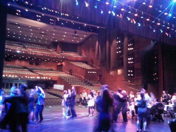 Partying on the stage of the Jubilee...because @ShumkaDancers are like that! #helluvaparty