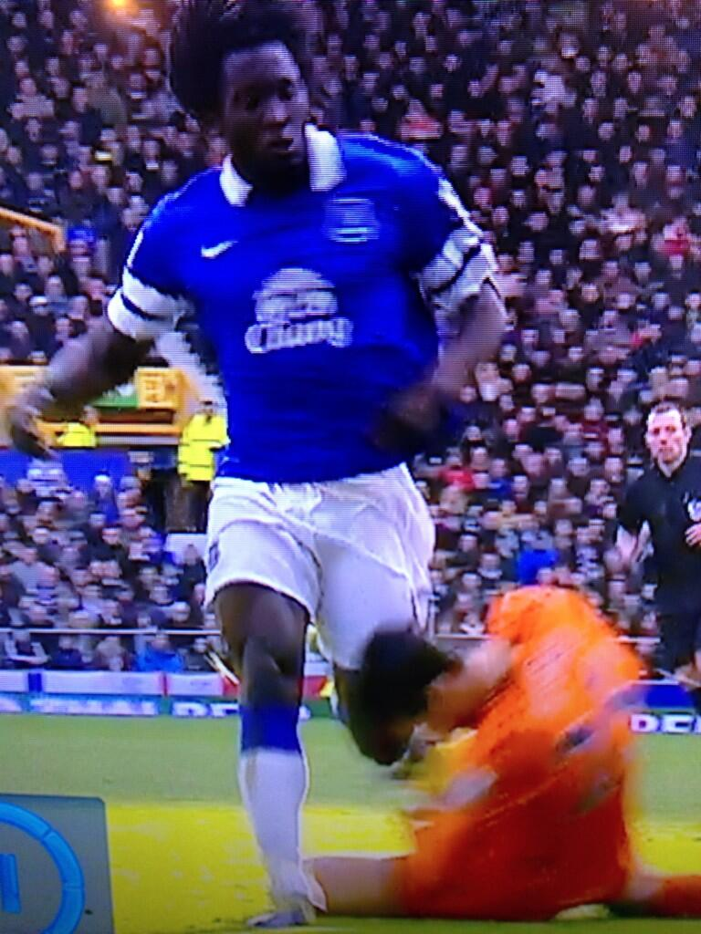 The moment Romelu Lukaku kneed Spurs goalie Hugo Lloris in the head