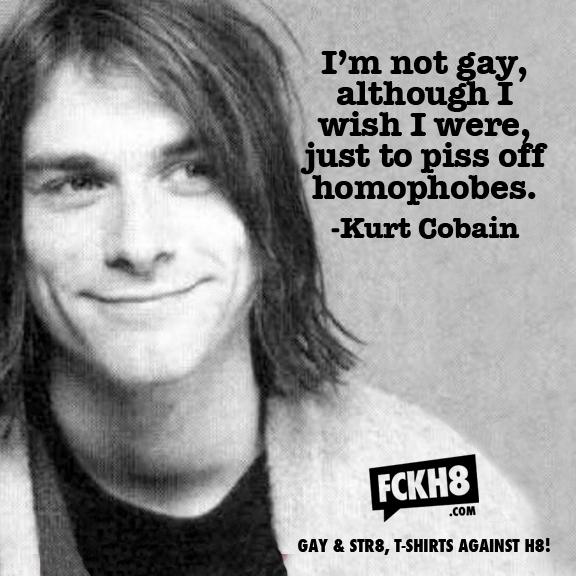 from Finley kurt cobain was gay
