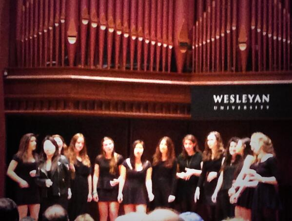 Wesleyan A Capella never fails to impress! Beautiful performances by all of the groups at Memorial Chapel. #hcfw2013 http://t.co/2Ltj0JONi7