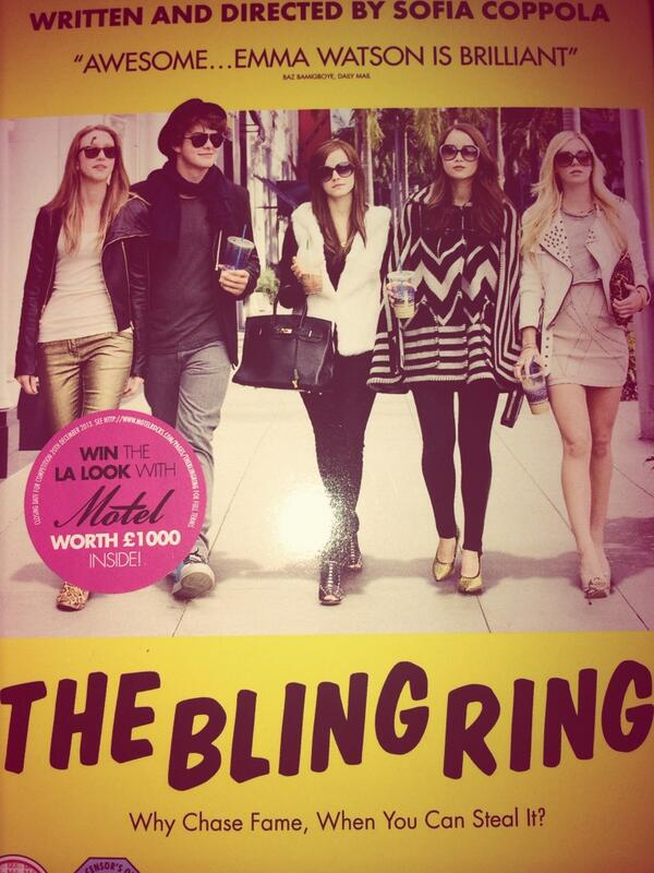 It's Allllllll About The Bling Ring!! 😎 @EmWatson #fameobsession http://t.co/XqtCKwGURG