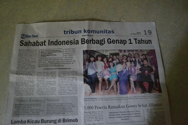 Berita #GathnasSIGi di Harian Tribun Timur Ed. 4/11/2013 hal 19 | @SIGI_news @SIGIpku http://t.co/ZOABBKQMVK