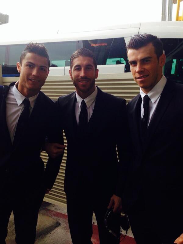 Good morning...! Taking off to Turin. Lets go team! Hala Madrid!! @Cristiano @GarethBale11