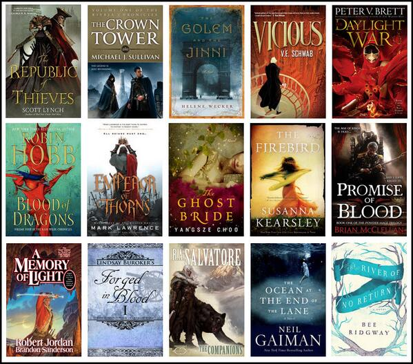 Covers for the nominees for the 2013 goodreads choice awards for fantasy: http://t.co/1JZSvdCsLb #goodreads #fantasy http://t.co/sWPHlpTie7