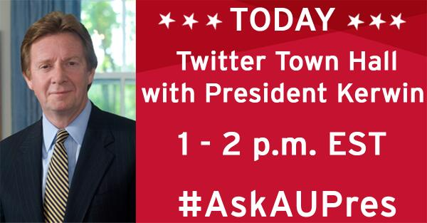 Thumbnail for #AskAUPres Twitter Town Hall