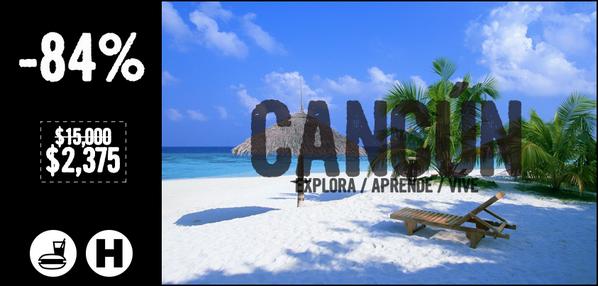 #Cancún 5 días 4 noches en hotel DE LUJO + 2 menores GRATIS + Alimentos +... a -84% en => http://t.co/IMp2AeDxvI http://t.co/z4bfmD6Dew